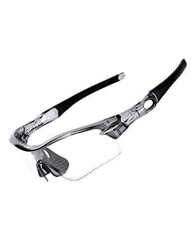 ROLLBERTO Polarised Sports Mens Sunglasses - Smart Color Change Glasses£¬Mens and Womens Color Changing Glasses (Gray) ()