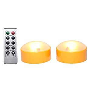 LED Pumpkin Lights with Remote and Timer, Jack-O-Lantern Light, Halloween Light, Flameless Candles for Pumpkins Set of 2