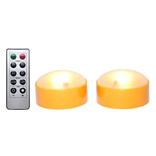 CANDLE CHOICE Set of 2 LED Pumpkin Lights with Remote and Timer, Jack-O-Lantern Light, Halloween Light, Flameless Candles for Pumpkins, Orange Color -