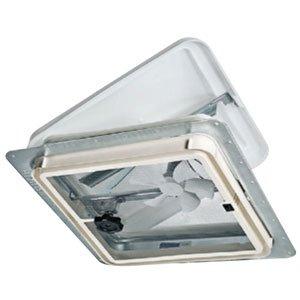 - Ventline Roof Vent - 110v Fan - Manual Dome - White