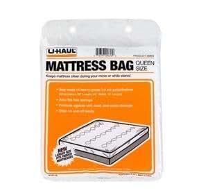 """Amazon Uhaul Mattress Bag Queen 60"""" x 92"""" x 10"""