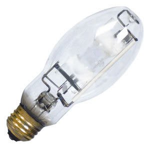 GE 22127 - 100 Watt - BD17 - ConstantColor - Pulse Start - Metal Halide - Unprotected Arc Tube - 3000K - Medium Base - ANSI M140/M90 - Universal Burn - CMH100/U/830/MED