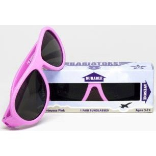 Babiators KIDS SUNGLASSES/Princess Pink frames with matte finish, smoke colored lens with polycarbonate finish. Classic, for ages 3-7. by Babiators (Image #1)