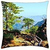 a canyon rim. - Throw Pillow Cover Case (18 (Pine Rim)