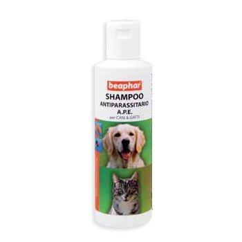 Beaphar – Beaphar Shampoo Antiparasitario a.p.e. para perros & gatos 200 ml.