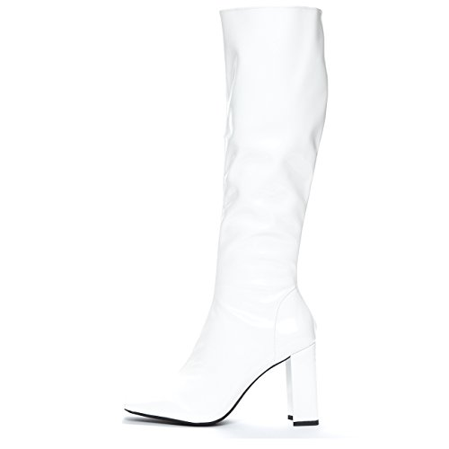 Jeffrey Campbell 'Nemesis MD', white knee hi boot, 8.5 by Jeffrey Campbell