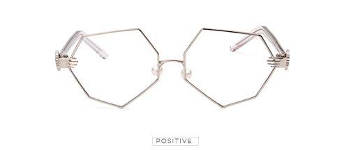 Oculos luneta Irregulares Plata ora Cristales Sol Decoraci¨®n Amarillo Se de Claro Sun Claro de Las Palma Oro Femenina tintados Mujeres Nuevos ¨²Nicas de vidrios de Gafas Zygeo wF1qU1