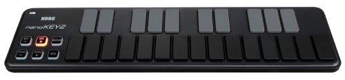 Korg nanoKEY2 Slim-Line USB Keyboard, Black, Outdoor Stuffs