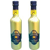 Riviera Ligure extra virgin oil pdo has got by olives called Taggiasche, lt 0,50 (17,6 ounce) x 2 gold cover bottle by Riviera Ligure extra virgin oil P.D.O (Image #3)