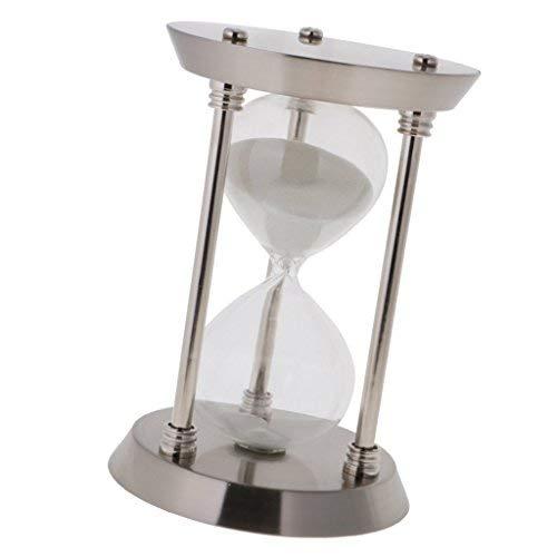 Silver, 30 Small ZYAQ Vintage Metal Frame Hourglass Sandglass Sand Timer Desk Table Book Shelf Home Decoration