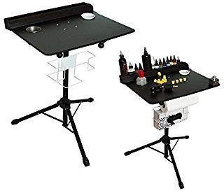 (Large Portable Tattoo workstation Adjustable Height stand Salon Instrument Tattoo Table)