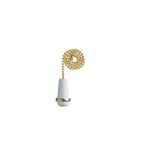 White Chain Pull - Westinghouse Lighting Corp 77009 12-Inch Cone Pull Chain, White