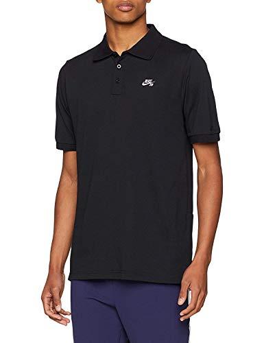 Nike SB Mens Pique Dri-Fit Polo Shirt Black/White (Small, Black)