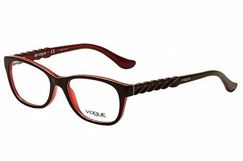 Vogue VO2911 Eyeglass Frames 2312-51 - Brown/orange/tr Red - Red Eyeglass Frames Vogue