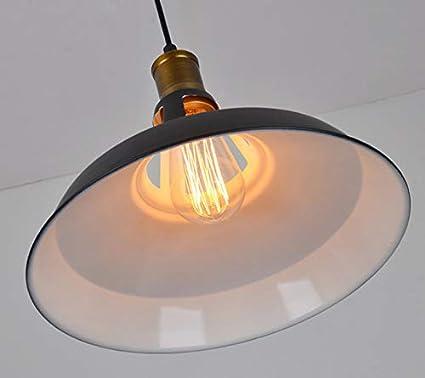 Lámpara colgante industrial E27Lantu Creative Black Vintage luces colgantes colgantes accesorios de lámpara retro para la decoración de la iluminación