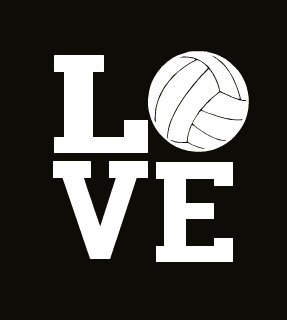 Volleyball Love Decal Vinyl Sticker|Cars Trucks Vans Walls L
