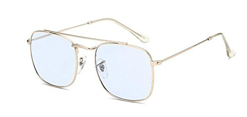 polarisées soleil du en Bleu rond de vintage style Film retro lunettes Lennon inspirées métallique cercle 5ExTnq