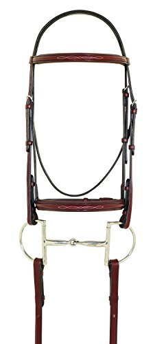 Padded Raised Bridle (Camelot Fancy Stitched Raised Padded Bridle Horse)