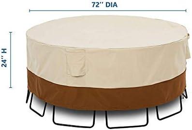 Classic Accessories Veranda 128 Diameter Round Sectional Sofa General Purpose Patio Furniture Cover