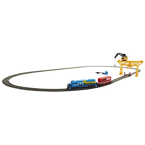 (Power Trains Starter Set with Port Cargo Loader Crane Train Play Set)