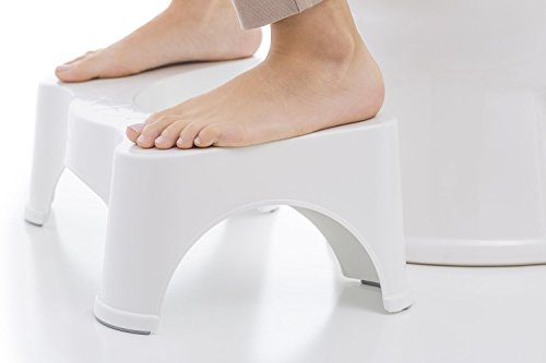 "Squatty Potty The Original Bathroom Toilet Stool, 7"" height, White, 7 Inch"