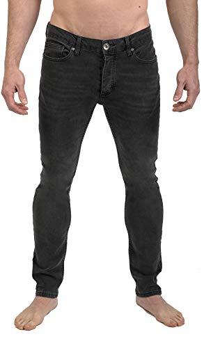 SUG Men's Skinny Slim Fit Jean Spray On Stretch Comfy Young Fashion Denim Pants (Black Wash 1390, 34)