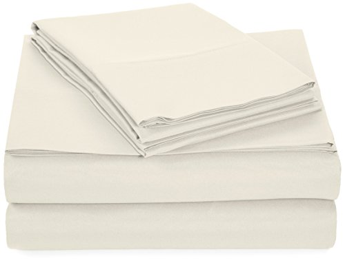 AmazonBasics Microfiber Sheet King Cream