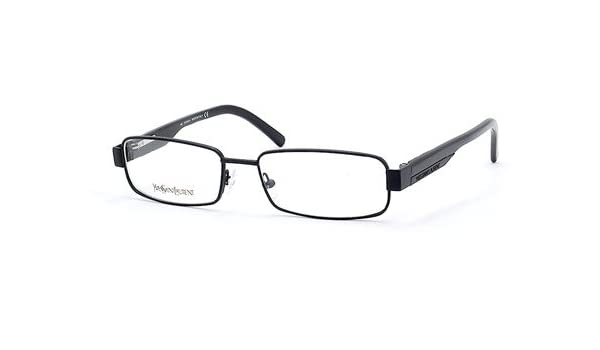 62a0bbbe44c Amazon.com  YVES SAINT LAURENT EYEGLASSES YSL 2153 0APC BLACK SMISHINY   Clothing
