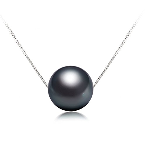 Bang-pa Luxury On Sale 11-12mm Black Tahitian Pearl Pendant Sterling Silver Jewelry Pearl Pendant Necklace Brand - Tiffany Australia Jewelry