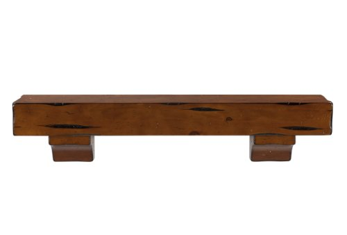 Pearl Mantels 412-48-50 Shenandoah Pine Wall Shelf, 48-In...