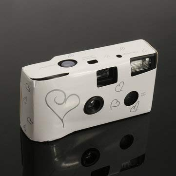 Digital Cameras Mini Cameras – Hearts Disposable Camera with Flash 36exp for Bridal Wedding Party – 1 x Disposable Camera