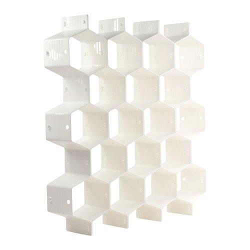 KLOUD City hogar plástico blanco partición abeja estilo ropa interior calcetines brasier corbatas cinturones bufandas...