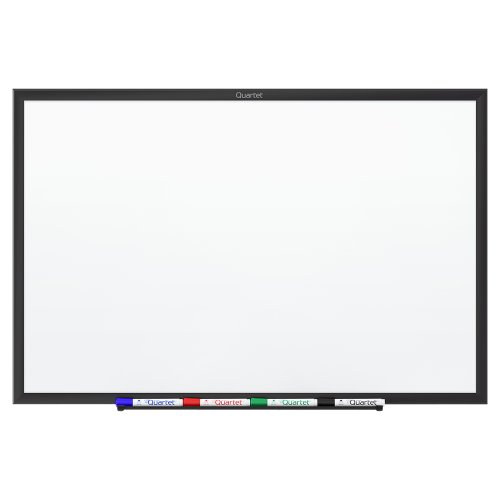 Quartet Dry Erase Board, Whiteboard/White Board, Magnetic, 4' x 3', Black Aluminum Frame (SM534B) by Quartet