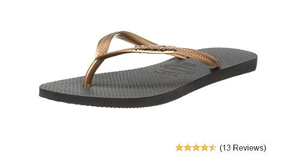 66a439868c957 Havaianas Women s Slim Logo Metallic Sandal
