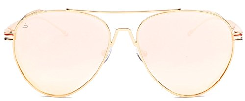 "PRIVÉ REVAUX ICON Collection ""The G.O.A.T"" Handcrafted Designer Polarized Aviator Sunglasses For Men & Women (Rose - Rose Sunglasses Gold Men"