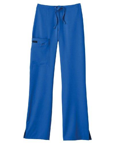 Jockey Ladies Front Tied Zipper Scrub Pant Mid Waist Fit Black, 2X-Petite