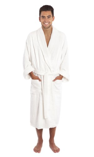 [Luxury Shawl Collar Toweling Robe. Bathrobe. 100 % Cotton Terry. A Great Value!] (Tall Terry Cloth Robes)
