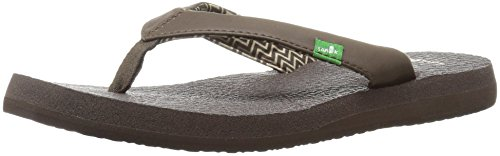 Sanuk Women's Yoga Serenity 4 Flip Flop, Brown, 10 M US