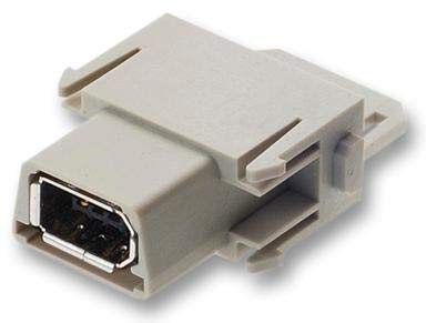 09140014711 - I/O Connector, 6 Contacts, Receptacle, Firewire IEEE-1394, Han-Modular Series, Cable Mount -9140014711
