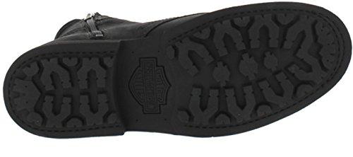 Uk Black Darnel Pelle Harley Davidson Colore stivaletti 7 In 12 Uomo Nero Misura Da 6qrZH6xnO