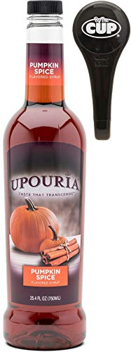 Upouria Pumpkin Spice Coffee Flavoring Syrup, 750ml bottle - Coffee Syrup Pump Included