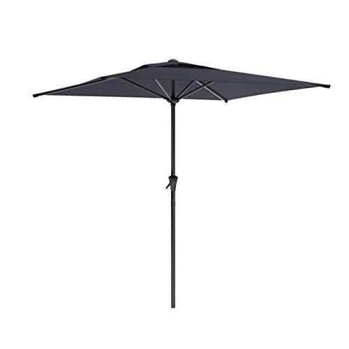 CorLiving PPU-300-U Square Patio Umbrella, Black For Sale