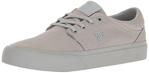 DC Women's Trase TX Skate Skateboarding Shoe, Grey/Grey/Grey, 7 B US