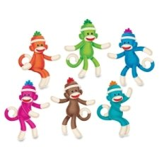 Trend Enterprises 10608 Classic Accents, Sock Monkeys Designs, 36 Each/Set ()