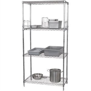Vogue 4 Tier Wire Shelving Kit 1220x 610mm - Commercial Kitchen ...