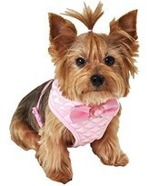 Amazon.com : Simply Wag Lulu Pink Quilted Dog Harness MEDIUM ...