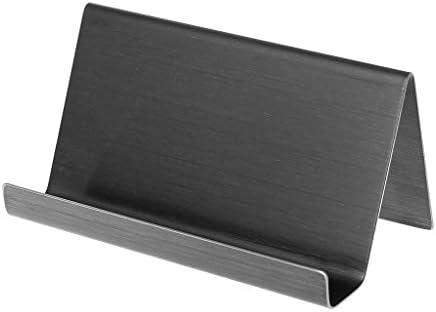 A0127 Visitenkartenhalter Visitenkartenhalter aus Edelstahl 9x5x4.5cm gebürstet