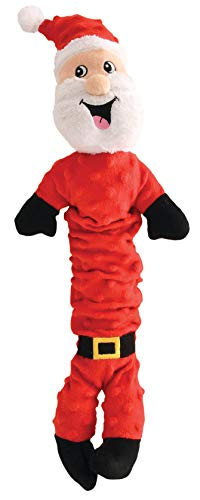 Pet Factory Holiday Pull & Squeak Dog Toy (Santa)