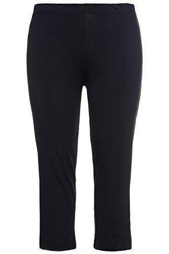 (Ulla Popken Women's Plus Size Stretch & Support Cropped Leggings Navy Blue 36/38 593724 71)