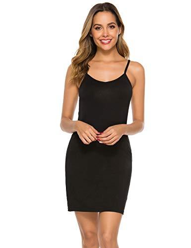 Abelove Women's Basic Slip Dress Adjustable Spaghetti Strap Cami Mini Dress